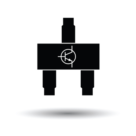 solder: Smd transistor icon. White background with shadow design. Vector illustration.