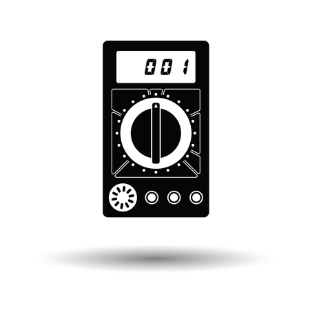 Multimeter icon. White background with shadow design. Vector illustration.