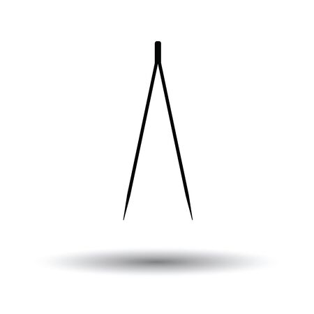 Electric tweezers icon. White background with shadow design. Vector illustration. Illustration