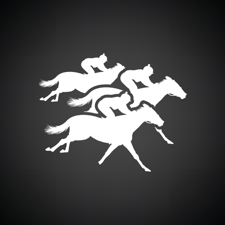 Horse ride icon. Black background with white. Vector illustration. Illustration