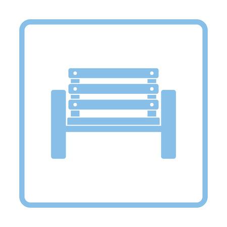 player bench: Tennis player bench icon. Blue frame design. Vector illustration.