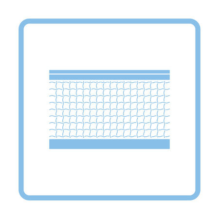 synthetic court: Tennis net icon. Blue frame design. Vector illustration.