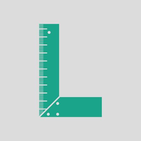 setsquare: Setsquare icon. Gray background with green. Vector illustration. Illustration