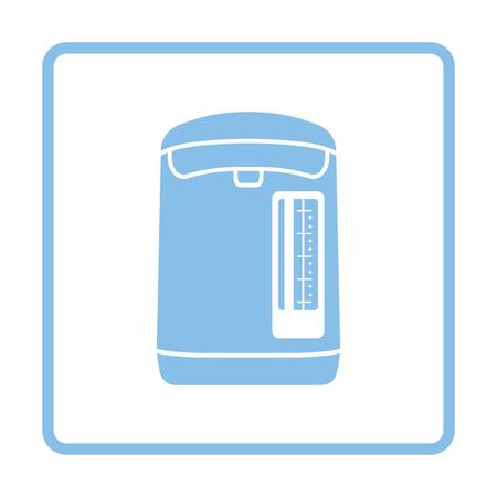 electric kettle: Kitchen electric kettle icon. Blue frame design. Vector illustration. Illustration