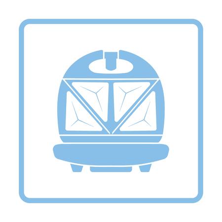bread maker: Kitchen sandwich maker icon. Blue frame design. Vector illustration.