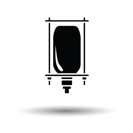 transfuse: Drop counter icon. White background with shadow design. Vector illustration.
