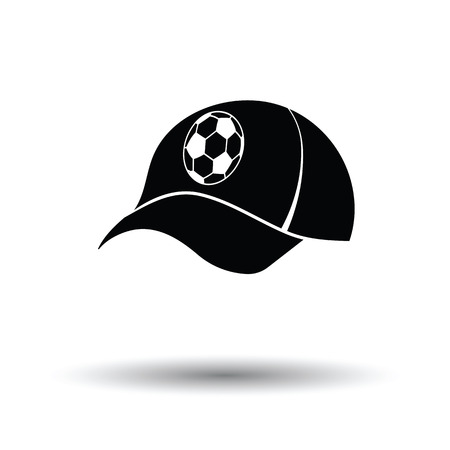 costume ball: Football fans cap icon. White background with shadow design. Vector illustration. Illustration