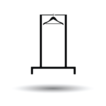 clothes rail: Hanger rail icon. White background with shadow design. Vector illustration.