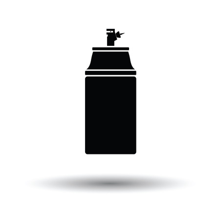 compressed air: Paint spray icon. White background with shadow design. Illustration
