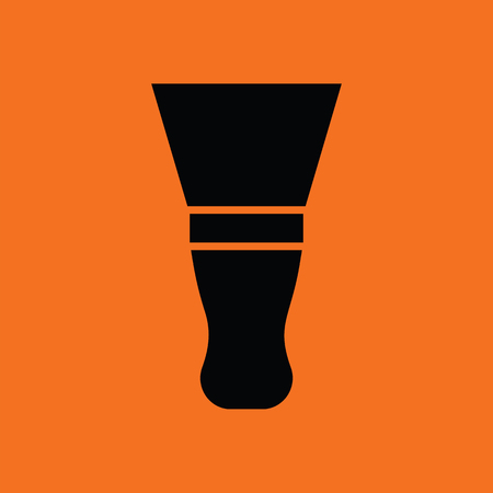 putty knife: Putty knife icon. Orange background with black.