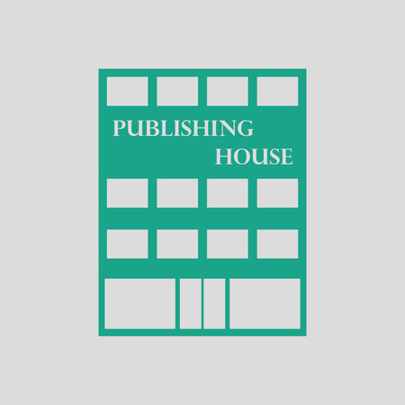 issuer: Publishing house icon. Gray background with green. Illustration