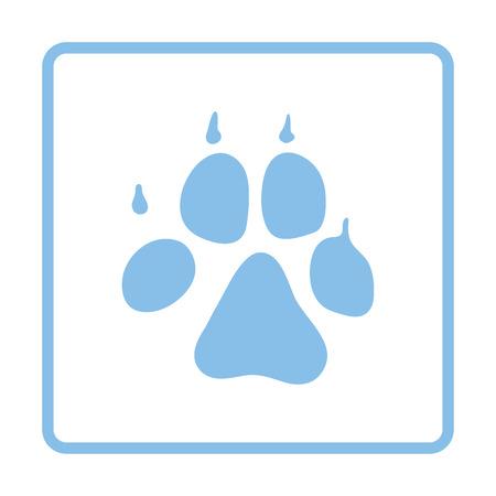Dog trail icon. Blue frame design. Vector illustration.