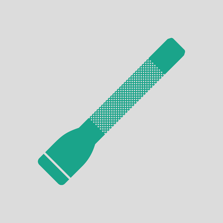Police flashlight icon. Gray background with green. Vector illustration.