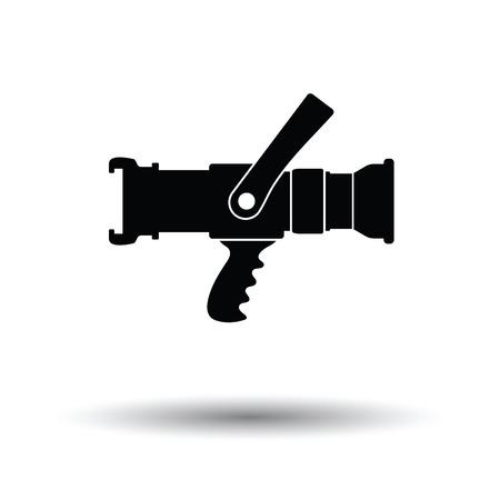 Icona del tubo del fuoco. Sfondo bianco con ombra design. Illustrazione vettoriale.