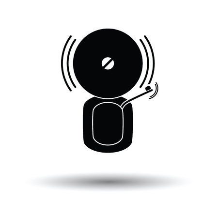 intruder: Fire alarm icon. White background with shadow design. Vector illustration.