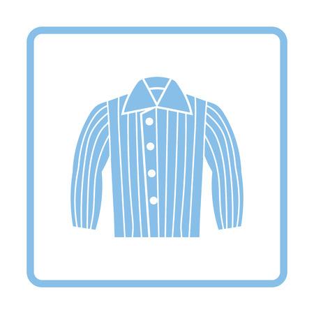 Dog trainig jacket icon. Blue frame design. Vector illustration.
