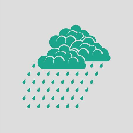 humid: Rainfall icon. Gray background with green. Vector illustration.