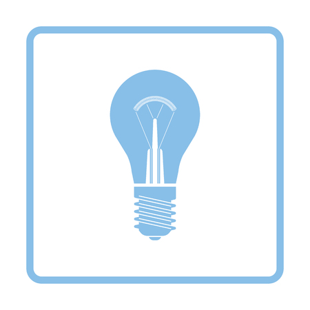electric blue: Electric bulb icon. Blue frame design. Vector illustration.