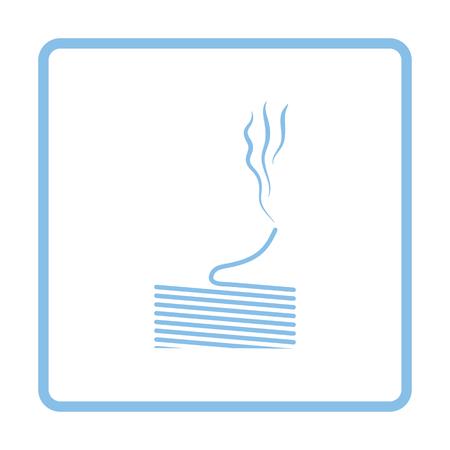 solder: Solder wire icon. Blue frame design. Vector illustration.