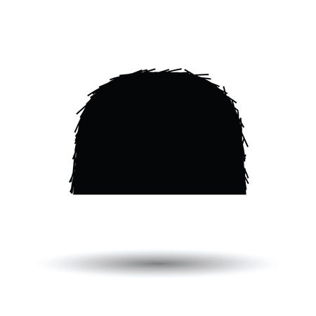 Hay stack icon. White background with shadow design. Vector illustration. Illustration