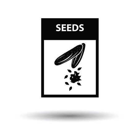 vegetable gardening: Seed pack icon. White background with shadow design. Vector illustration.