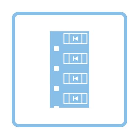 diode: Diode smd component tape icon. Blue frame design. Vector illustration. Illustration