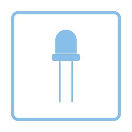 diode: Light-emitting diode icon. Blue frame design. Vector illustration. Illustration