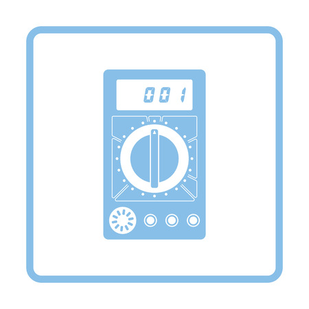 Multimeter icon. Blue frame design. Vector illustration.