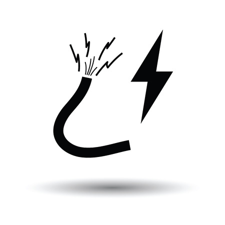 Icon of Wire . White background with shadow design. Vector illustration.