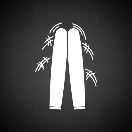 Football fans clapping sticks icon. Black background with white. Vector illustration.