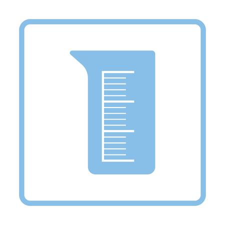 Ikone der Chemie Becher. Weißer Hintergrund mit Schatten Design. Vektor-Illustration. Vektorgrafik