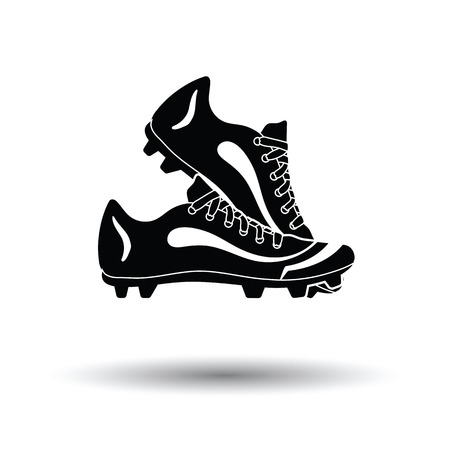 spiked: Baseball boot icon. White background with shadow design. Vector illustration.