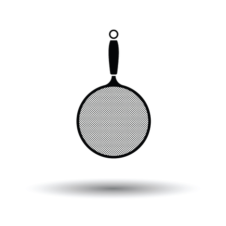 Kitchen colander icon. White background with shadow design. Vector illustration. Illustration