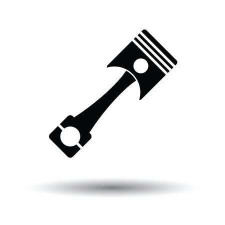 fuel rod: Car motor piston icon. White background with shadow design. Vector illustration. Illustration