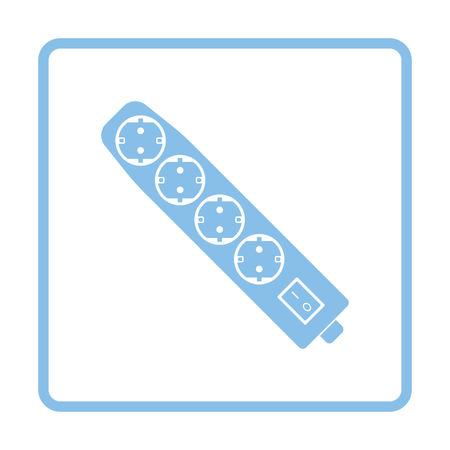 electric blue: Electric extension icon. Blue frame design. Vector illustration.