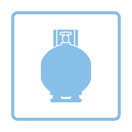 butane: Gas cylinder icon. Blue frame design. Vector illustration.
