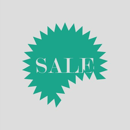 sale tag: Sale tag icon. Gray background with green. Vector illustration.