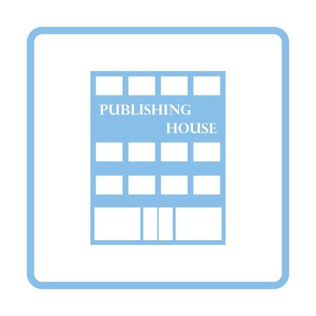 issuer: Publishing house icon. Blue frame design. Vector illustration.