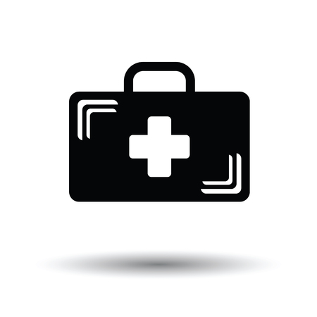 medical case: Medical case icon. White background with shadow design. Vector illustration.