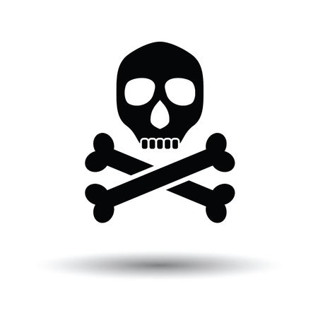 Poison sign icon. White background with shadow design. Vector illustration. Illustration