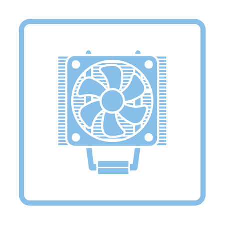heat sink: CPU Fan icon. Blue frame design. Vector illustration.