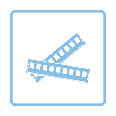 random access memory: Computer memory icon. Blue frame design. Vector illustration. Illustration
