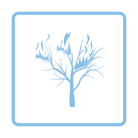 wildfire: Wildfire icon. Blue frame design. Vector illustration.