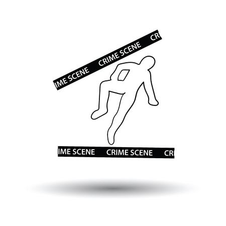 csi: Crime scene icon. White background with shadow design. Vector illustration. Illustration