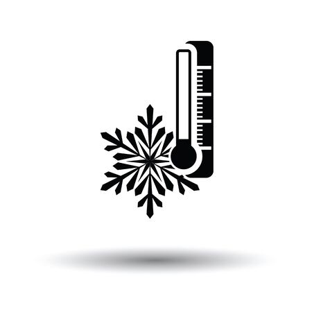 Winter cold icon. White background with shadow design. Vector illustration.