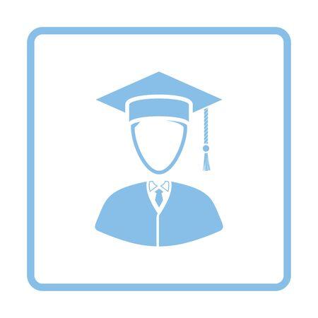 Lawyer man icon. Blue frame design. Vector illustration.