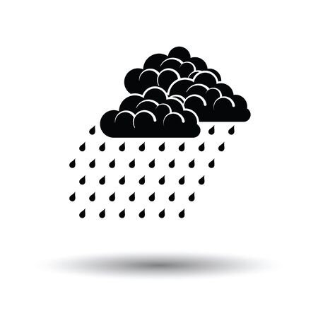 Rainfall icon. White background with shadow design. Vector illustration. Illustration