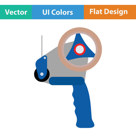 strapping: Scotch tape dispenser icon. Flat design. Vector illustration.