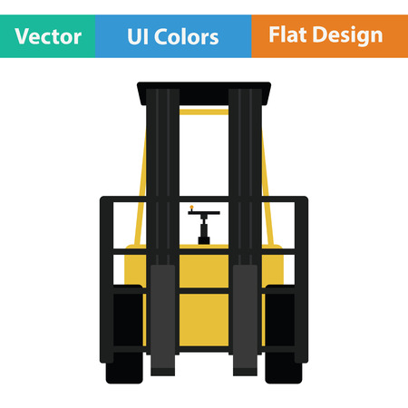 Warehouse forklift icon. Flat design. Vector illustration.