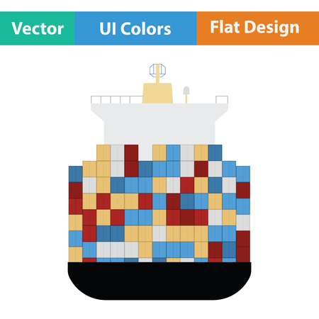 bulk carrier: Container ship icon. Illustration